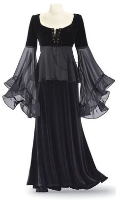 bewitching velvet & chiffon dress <3