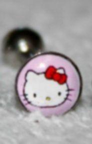 HELLO KITTY 14G Tongue Ring (Pink) U.S. SELLER --FREE SHIPPING--  http://www.ebay.com/soc/itm/180957978609