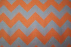 Riley Blake Cotton Chevron Baumwollstoff Neon Zickzack Patchwork orange weiß