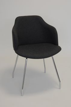Glamour P Arm Chair - Base No. 5 -  Four Shaped Steel legs.