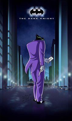 Nolan Batman Movie Posters Done as Animated Series Batman Poster, Batman Artwork, Batman Wallpaper, Joker Comic, Joker Pics, Funny Joker, Comic Art, Joker Animated, Batman The Animated Series