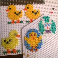 Easter decorations hama beads by kris10ne79