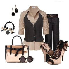 #TAN SHIRT #BLACK VEST #BLACK PANTS #OUTFITS #OUTFIT #OOTD