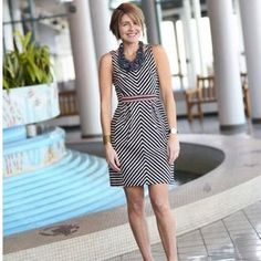 Maeve Mitered Stripe Dress #anthrofave