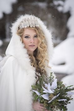 Ice Princess Shoot January 2016 Photographer: Brad Quarrington Florals: Petals in Thyme Hair and Make-up: MBA Mobile Hair and Make-up Dress and Cape: Exchanging Vows Bridal Boutique @ Coldstream Farm Princess Shot, Ice Princess, Vows Bridal, Family Photography, Wedding Photography, Machine Photo, Winter Bouquet, Bride Hairstyles, Hairstyle Ideas