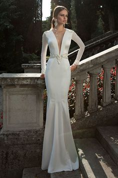 Elegant wedding dresses reminiscent of days gone by.