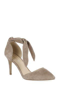Warehouse, Suede Ankle Tie Court Shoe Dark Grey 0