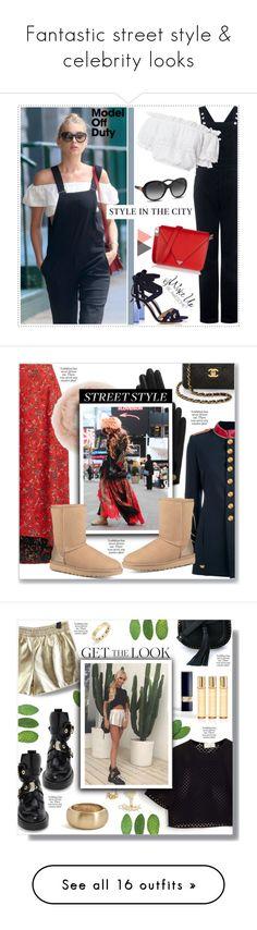 """Fantastic street style & celebrity looks"" by fashion-film-fun ❤ liked on Polyvore featuring AG Adriano Goldschmied, Alexander Wang, WALL, LoveShackFancy, Gianvito Rossi, Bulgari, modeloffduty, La Condesa, Onar and Chanel"