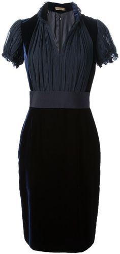 Gorgeous Black Velvet Dress - Alexander McQueen #Style #black #fashion