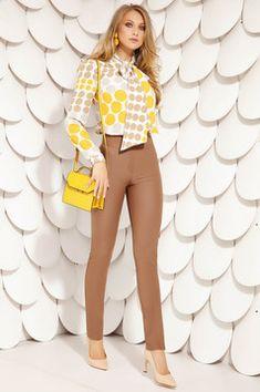 Camasi Dama - Colectie Noua in fiecare Vineri - StarShinerS White Jeans, Pants, Shopping, Fashion, Trouser Pants, Moda, Fashion Styles, Women's Pants, Women Pants