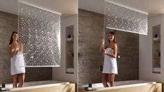 'The Shower Roller Blind from Germany-based Eco Dur attaches to the ceiling and conveniently rolls up and out of site when not in use, which is particularly useful if you want to show off some tile work.'