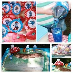 Smurf Birthday Party Ideas And Inspiration Make Create Do