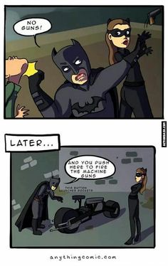 Batman doesn't use guns