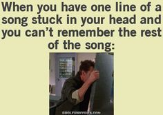 When You Have One Line Of A Song Stuck