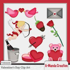 Valentine's Day and Love themed Commercial Use Clip Art