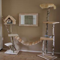 Kattenbrug gemaakt van steigerhout