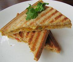 A Delightful Corn Bhurji Sandwich