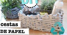 DIY para decorar: cómo hacer cestas reciclando papel