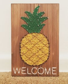 Pineapple Welcome String Art, Hawaii- order from KiwiStrings on Etsy! www.KiwiStrings.etsy.com