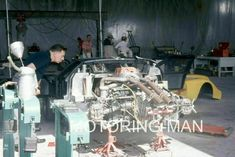 SEBRING 12 HOURS 1967 FORD GT40 ENGINE REAR SUSPENSION PITS LARGE PHOTOGRAPH Ford Gt40, 4 Hours, Engine, Photographs, Racing, Art, Running, Art Background, Motor Engine