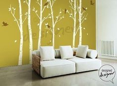 THE ORIGINAL Tree Wall decal Wall sticker - Birds in the Urban Forest tree decal - dd1014