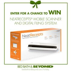 The NeatReceipts Mobile Scanner is perfect for the person always in the office. (NO PURCHASE NECESSARY TO ENTER OR WIN. Ends 12/18/13)