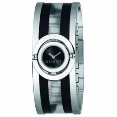 e3d6776ddde Gucci Twirl Women s Ladies Bracelet Watch Stainless Steel Silver Black  Transparent Acetate Ya112516 Ladies Bracelet Watch