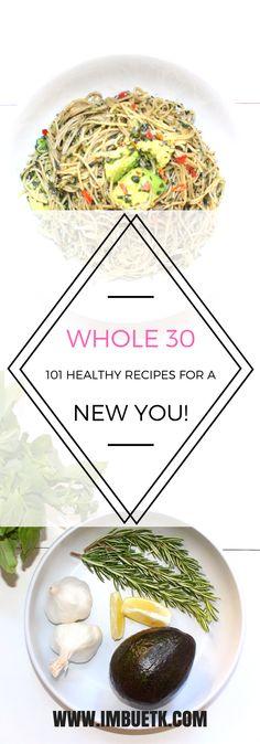 Healthy Vegan, Vegetarian, Gluten Free, Dairy Free breakfast, lunch, dinner & snack recipes. Easy & simple to make. #whole30 #healthy #recipes #vegan #vegetarian #glutenfree #dairyfree