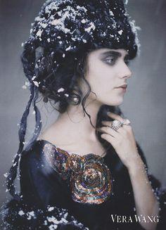 Yana Karpova photographed by Paolo Roversi - Vera Wang Ad Campaign: Fall/Winter 2007