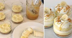 Delicious Caramel Cream And Banana Dessert Recipe - AllDayChic Banana Dessert Recipes, Köstliche Desserts, Cookie Recipes, Delicious Desserts, Other Recipes, Sweet Recipes, Comida Diy, Malteser Cake, Cocktail