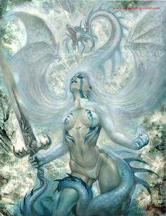 White dragon by sebastien-grenier on deviantART