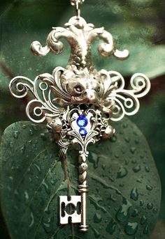 Keys & Locks: Neptune of the Sea Under Lock And Key, Key Lock, Antique Keys, Vintage Keys, Steampunk, Sewing Room Storage, Old Keys, Key To My Heart, Key Necklace