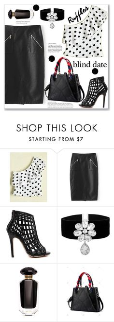 """""""Syteet Style"""" by jecakns ❤ liked on Polyvore featuring Victoria's Secret, PolkaDots, pencilskirt, oneshoulder, blinddate and zaful"""
