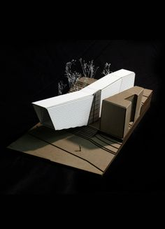 Architectural Fundamentals (studio II): Ludwig Museum physical model Maitham Almubarak 2012