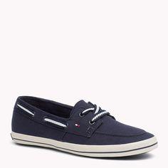 Tommy Hilfiger Instap Sneaker Van Stof - midnight (Blauw) - Tommy Hilfiger Sneakers - hoofdbeeld