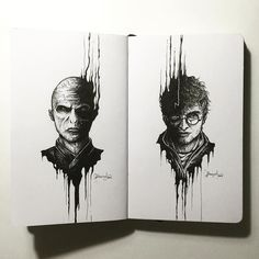 Harry Potter & Voldemort sketch book