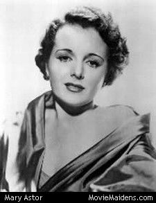 Mary Astor (American successful silent screen actress continued to be successful into talkies) Many of her original silent movies have been destroyed by age. Her most noted performances in motion pictures, talkies, The Maltese Falcon, The Great Lie, The Prisoner of Zenda, Meet Me In St. Louis, Little Women, The Palm Beach Story. . . . .