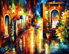 PAYING A VISIT - PALETTE KNIFE Oil Painting On Canvas By Leonid Afremov http://afremov.com/PAYING-A-VISIT-PALETTE-KNIFE-Oil-Painting-On-Canvas-By-Leonid-Afremov-Size-30-x36.html?bid=1&partner=20921&utm_medium=/vpin&utm_campaign=v-ADD-YOUR&utm_source=s-vpin