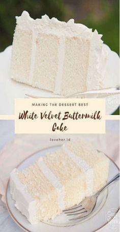 White Velvet Buttermilk Cake Recipe | Happy Eat Healthy