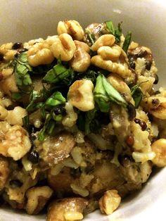 Vegan Mushroom Basil Risotto   Peaceful Dumpling