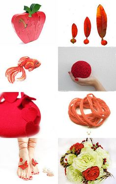 Red Fruites by PinezaJewelry Red Fruit, Planter Pots, Handmade, Etsy, Hand Made, Plant Pots, Arm Work