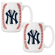 New York Yankees 2 Piece Gameball Coffee Mug Set