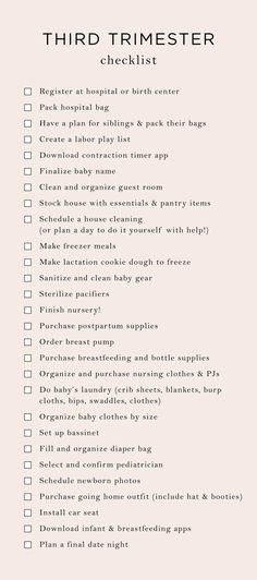Everything On My 3rd Trimester To-Do List   The Mama Notes
