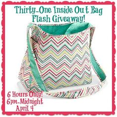 Hump Day Thirty-One Inside Out Bag Flash Giveaway