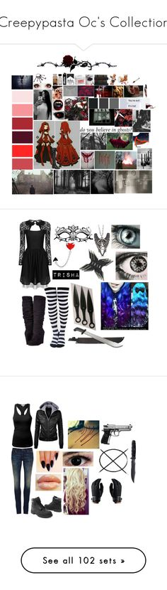 """""""Creepypasta Oc's Collection"""" by pastelgothprincess27 ❤ liked on Polyvore featuring Barker, Freddy, CB I Hate Perfume, Joie, Bling Jewelry, Michael Antonio, 6397, Timberland, Handle and J.TOMSON"""