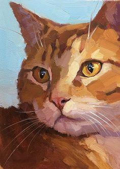Katya Minkina - Portfolio of Works: Haustiere / Kommissionen - animaux - Katzen Watercolor Cat, Watercolor Paintings, Cat Paintings, Colorful Animal Paintings, Pastel Paintings, Animal Drawings, Art Drawings, Afrique Art, Arte Pop