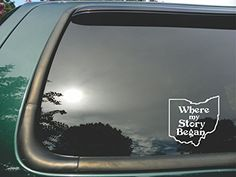 Ohio State Where My Story Began Die Cut White Vinyl Window Decalsticker for Cartrucklaptop 5x5 -- You can get more details by clicking on the image.Note:It is affiliate link to Amazon.