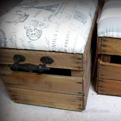 Whether you need to save some space, want to repurpose finds or make furniture that serves more than one purpose, here are 12 bedroom furniture ideas. Patio Furniture Redo, Furniture Ads, Cheap Furniture, Furniture Making, Bedroom Furniture, Furniture Projects, Crate Ottoman, Storage Cabinet With Drawers, Bookcase Headboard