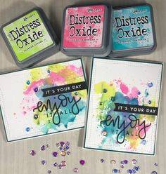 Oh Happy Day! – My Love For Paper Distress Oxide inked background