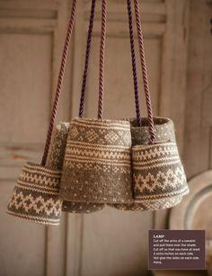 lamp | leuk om zelf te maken lampen van oude truien Door Robeintje